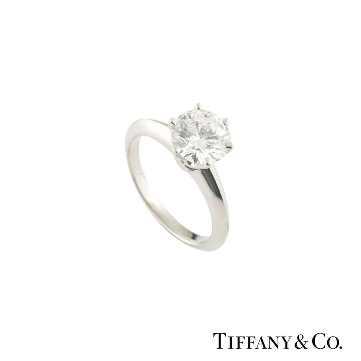 Tiffany & Co. Platinum Diamond Setting Band Ring 1.37ct H/VVS2